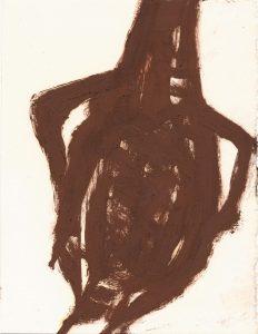 Flaschenkörper, 1988, Öl, ca 16 x 12 cm