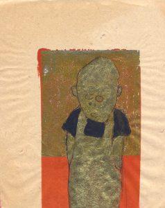 Tribute to the hereafter, 1996 - 2010 - Hosenträger - Tusche und Goldlack auf chinesischem Opferpapier - Wolfgang Stiller