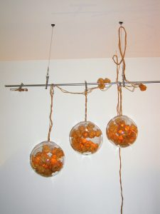 rankgrowth custom made installation, 2000, Latex, Acrylglas,Metall, Licht, ca. 240 x 350 x 80cm - Wolfgang Stiller