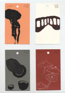 aspects of life, 2004 No 2;3;4;5, Mischtechnik auf Farbkartenmustern, Format : jeweils 12,8 x 7,6 cm - Wolfgang Stiller