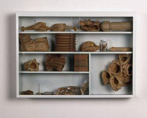 kleine Sammlung 4, 1996, Stahl, Glas, Latex 66 x 47 x 15cm - Wolfgang Stiller