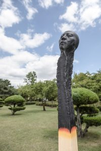 Bronze installation Matchstickmen  Changwon sculpture biennale Korea 2018- Wolfgang Stiller