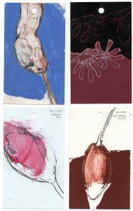 aspects of life, 2004 Mischtechnik auf Farbkartenmustern, Format : jeweils 12,8 x 7,6 cm - Wolfgang Stiller