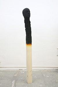 matchstickmen 2019, PU ,wood,paint ca 163 cm - Wolfgang Stiller
